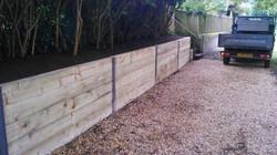 Sleeper wall - Parkstone