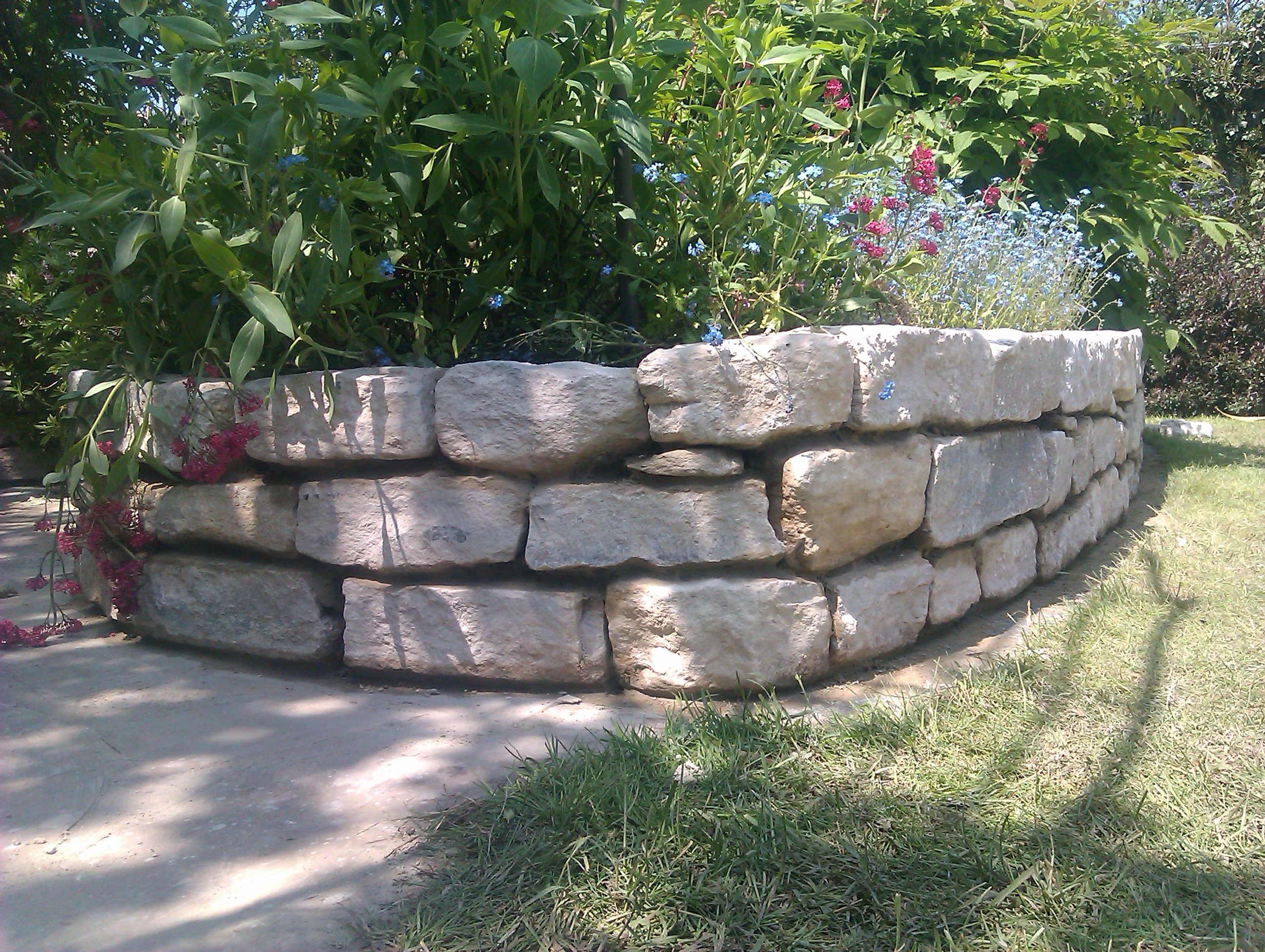 Purbeck stone raised bed - Walkford