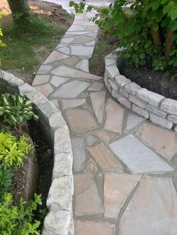 Walling, paths, patio - Walkford