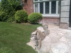 Purbeck boulder wall - Winton