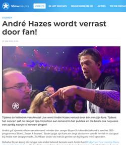 André Hazes wordt verrast door fan!