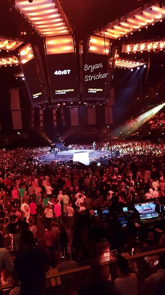 Bryan Stricker zong in de Ziggo Dome