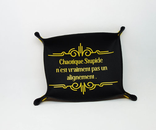 """Piste à dés """"Chaotique stupide"""" jaune"""