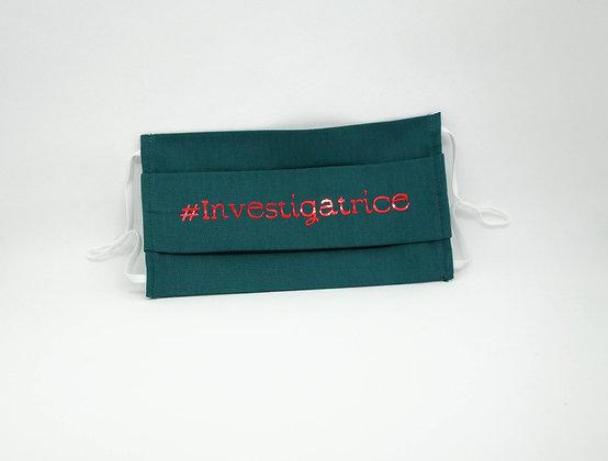 Masque anti-postillons #Investigatrice métal rouge (Vert)