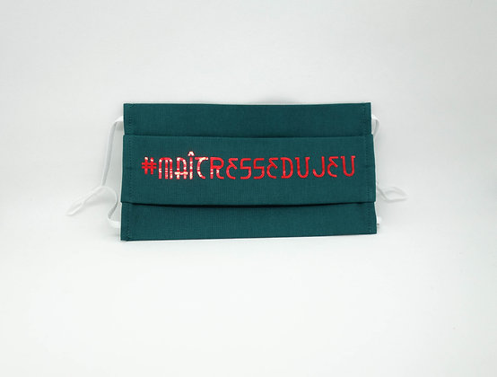 Masque anti-postillons maîtresse du jeu métal rouge (Vert)