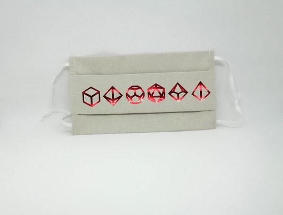 Masque anti-postillons dice rouge métal (Naturel)