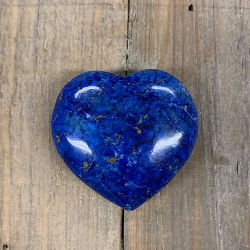Edelsteen hart lapis lazuli