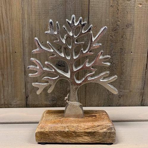Aluminium boom op houten staander