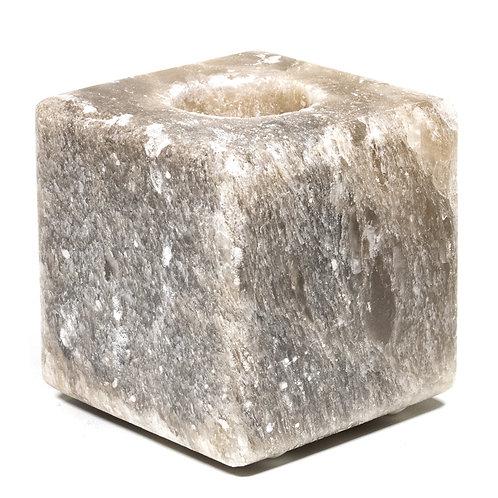 Zoutkristal sfeerlicht kubus grijs