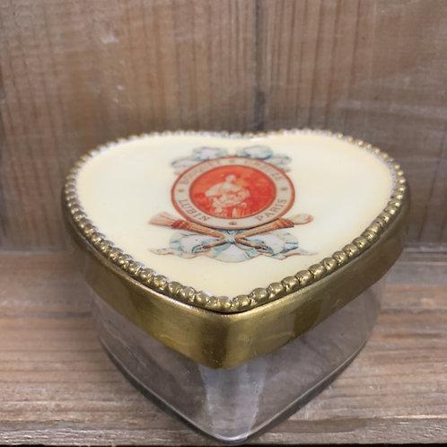Emaille hartvormig decoratie potje