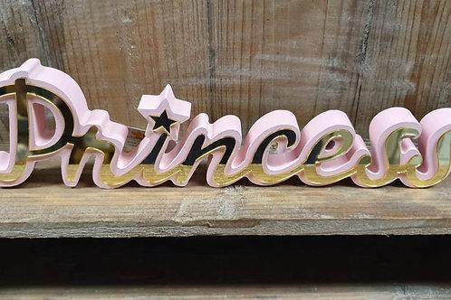 Houten Tekstbord Princess