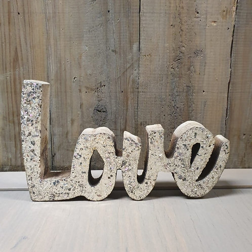 Glitter Love in hout