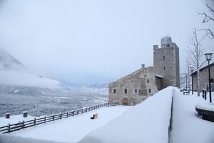 Schloss Leuk im Winter