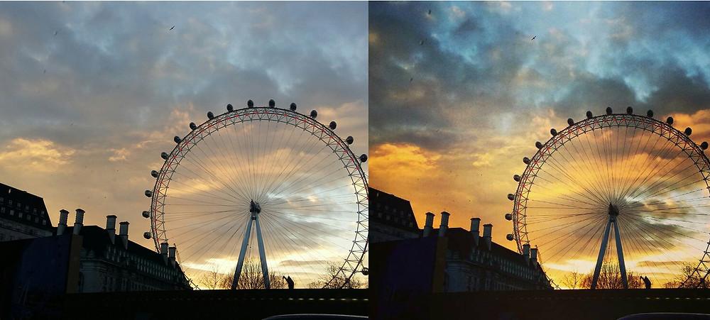 Riesenrad Bildbearbeitung Gimp Himmel Wolken Farben Bearbeitung