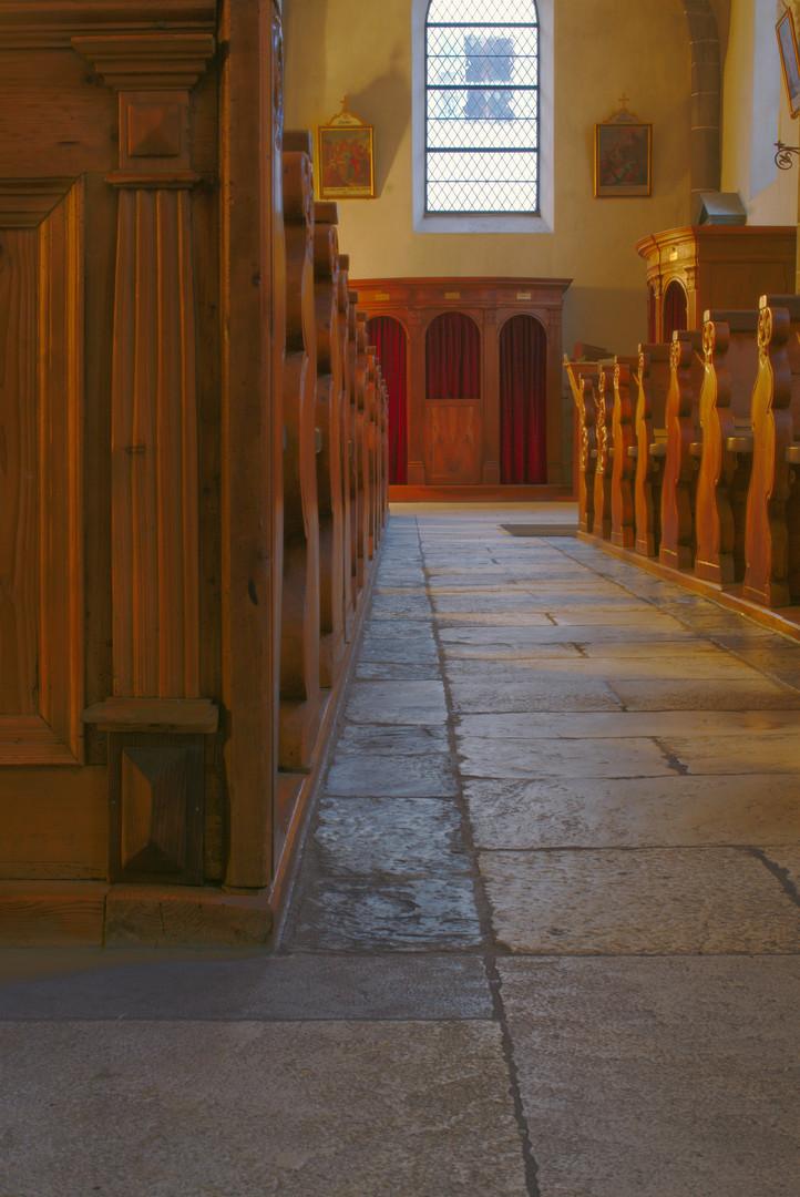 Beichtstuhl in der Stephanskirche