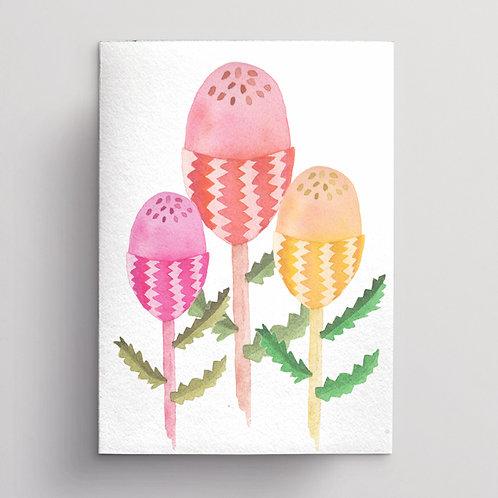 Wholesale Banksia Trio Greeting Card RRP $7