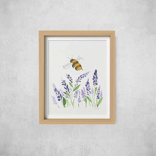 Wholesale Lavender and Bee Print RRP $40