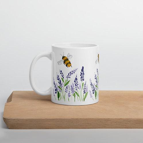 Lavender and Bee Mug