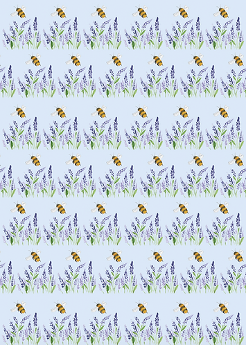 Wholesale Bee and Lavender Wrapping paper RRP $7.00