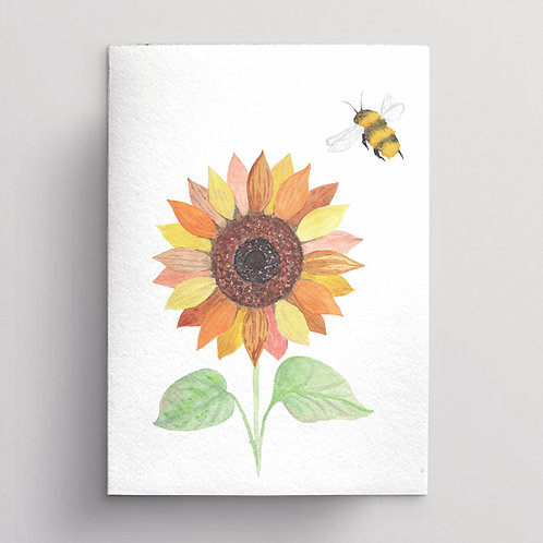 Wholesale Sunflower and Bee Greeting Card RRP $7
