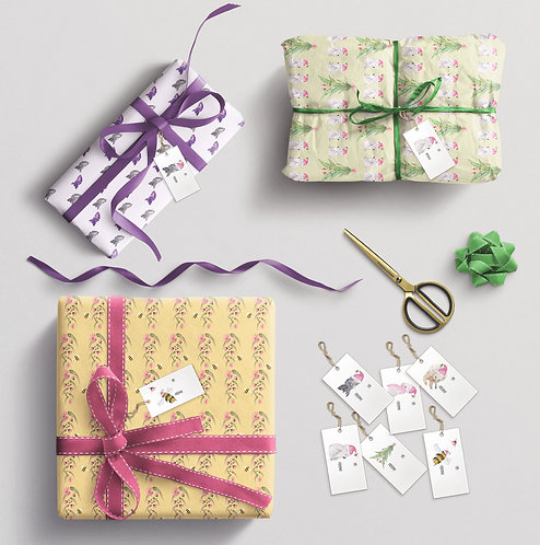 Christmas Gift Tags and Wrapping paper pack