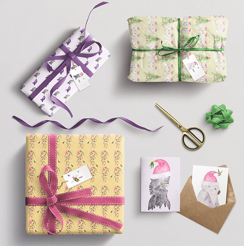 Christmas Cards, Gift Tags and Wrapping paper pack