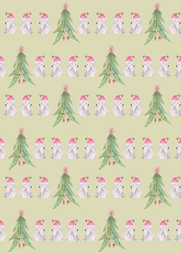 Koala and Gum Tree Christmas Wrapping paper
