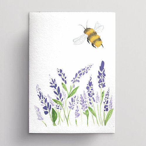 Lavender and Bee Greeting Card