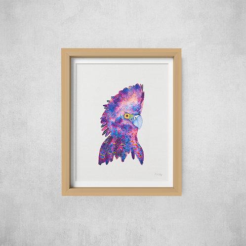 Neon Cockatoo Print