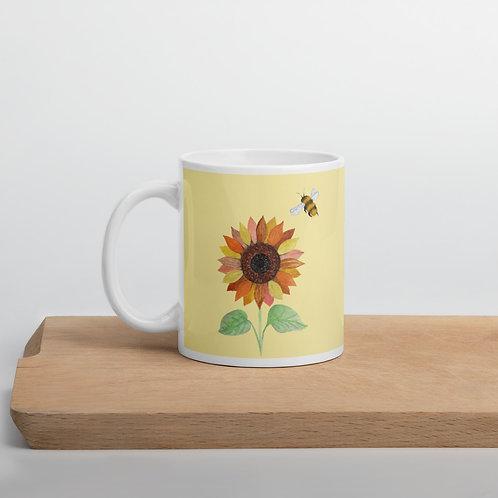 Sunflower and Bee Mug