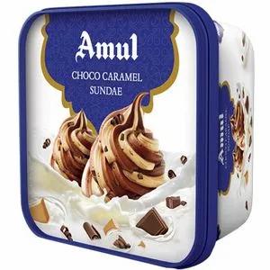Amul Real Ice-cream- Choco Caramel - 1L Tub