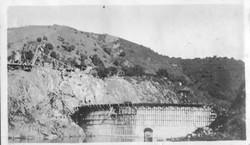 San Clemente Dam being built in 1921
