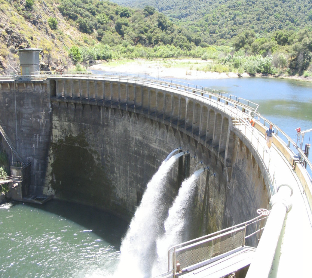 San Clemente Dam at low flow - 2008
