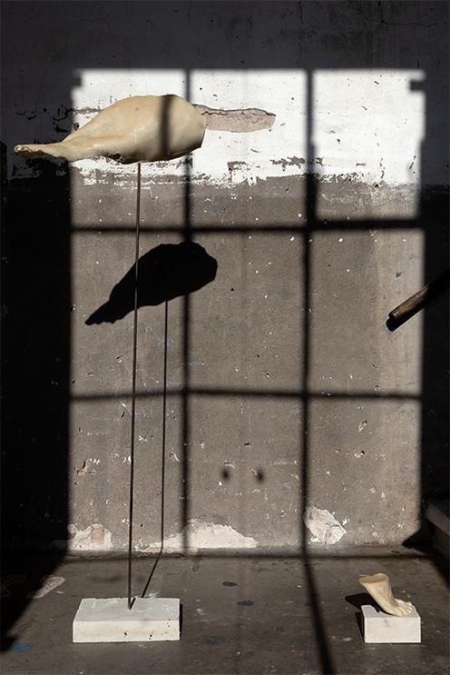 NUKE BIRD 2018 - METAL,CONCRETE, MICROCRYSTALLINE PARAFFIN WAX