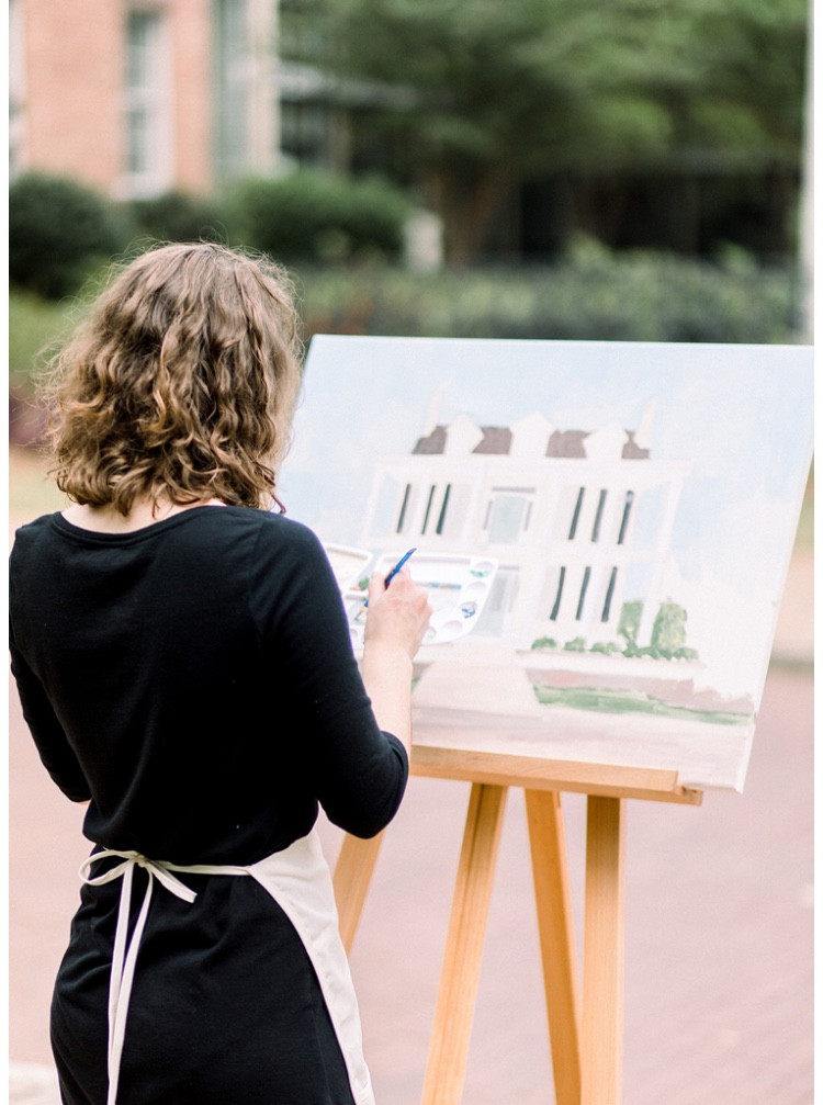 April Atchley Art Live wedding painter