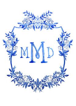 Blue Wedding Crest