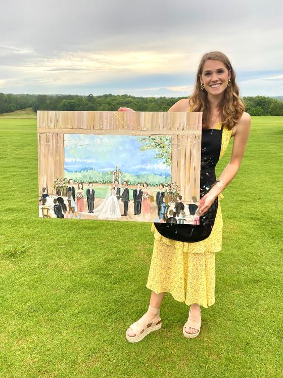 South Carolina Live Wedding Painting