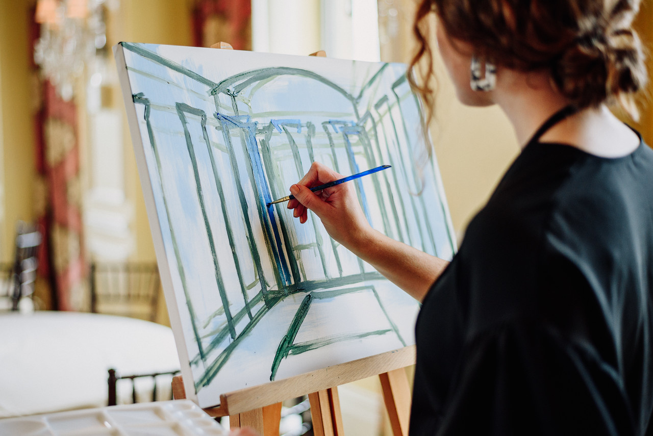 live-wedding-painting
