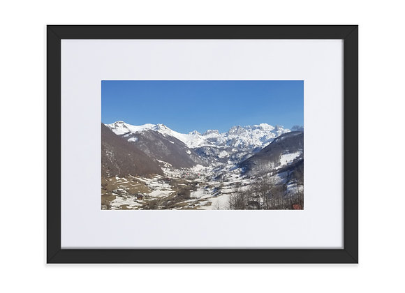 Lepushe Albania in March Matte Paper Framed Poster With Mat