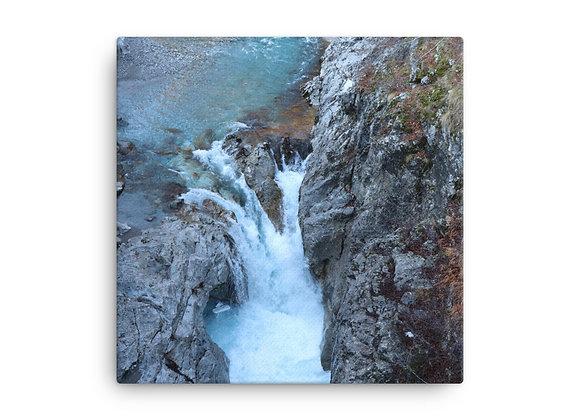 Falls near Vermosh Albania Canvas Print