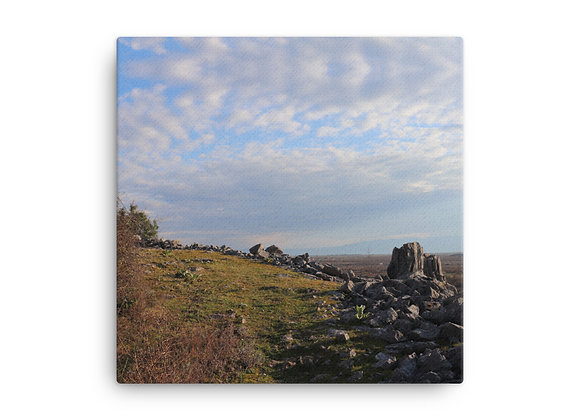 Trail to Cross Canvas Print