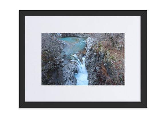 Waterfall near Vermosh Albania Matte Paper Framed Poster With Mat
