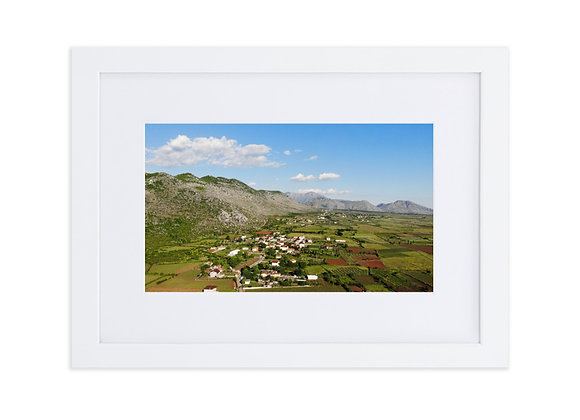 Jeran and Gradec Albania Matte Paper Framed Poster With Mat