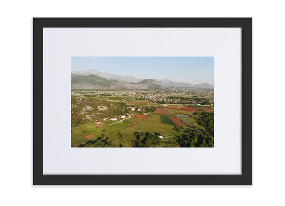 Ivanaj and Bajze Albania Matte Paper Framed Poster With Mat