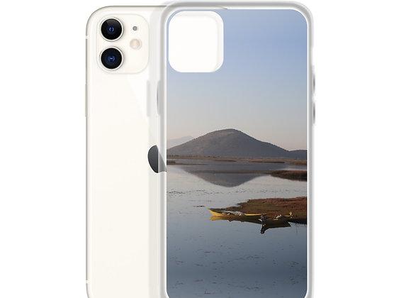 Reflections on Lake Shkoder iPhone Case