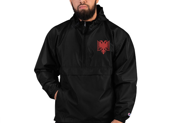 Albanian Logo Embroidered Champion Pack able Jacket