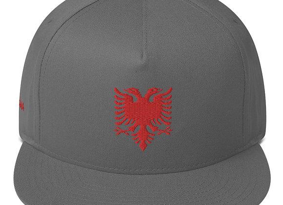 Albanian Coat of Arms Flat Bill Cap