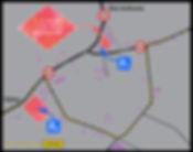 Kaart met parkeren en routing