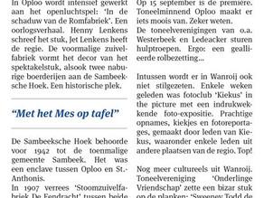 Column Jan van Goch in weekblad Omstreeks