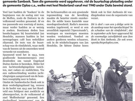 Start publicatie verhalen in Weekblad Omstreeks.